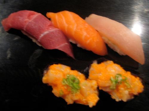 sushi samplings