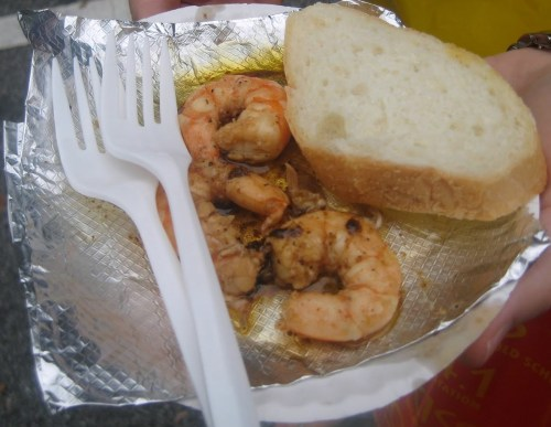 terrible shrimp from forgettable restaurant