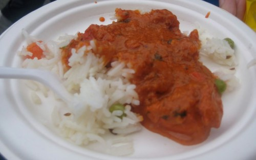 chicken tikka masala over rice (Bhojnic)